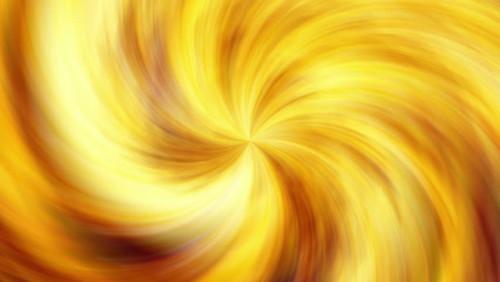 Golden Swirling Hurricane